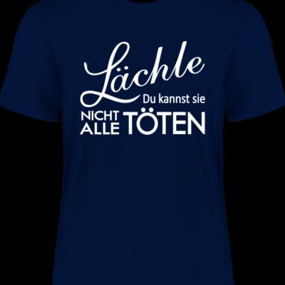 Shirt Spruch Lächle blau